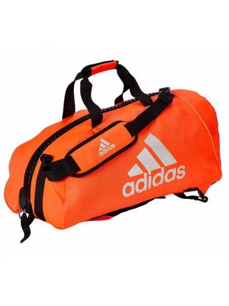 "Сумка-рюкзак Adidas 2in1 Bag ""Martial arts"" Nylon, adiACC052 Красная с белым"
