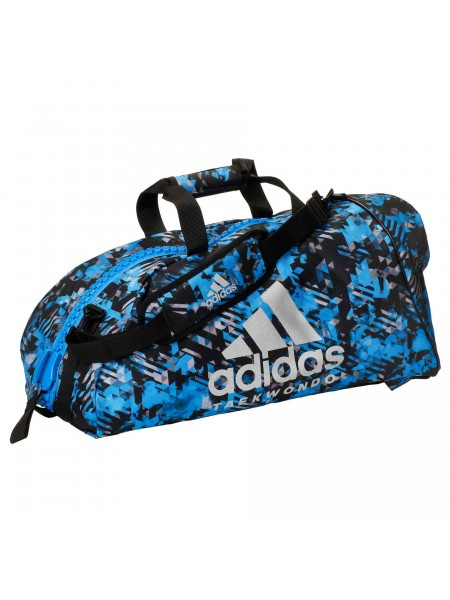 "Сумка-рюкзак Adidas 2in1 Bag ""Taekwondo"" Nylon, adiACC052 Синяя"
