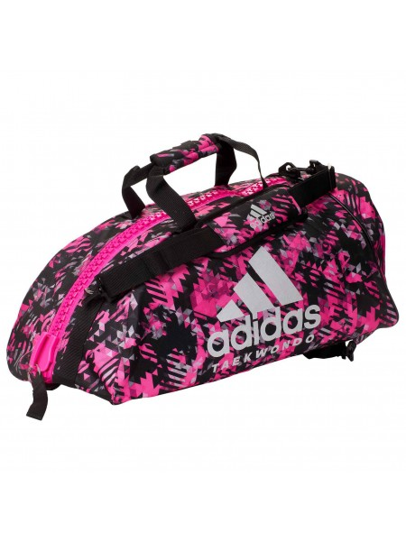 "Сумка-рюкзак Adidas 2in1 Bag ""Taekwondo"" Nylon, adiACC052 Розовая"